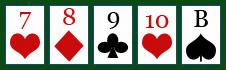 Poker: Die Straße - Straight.