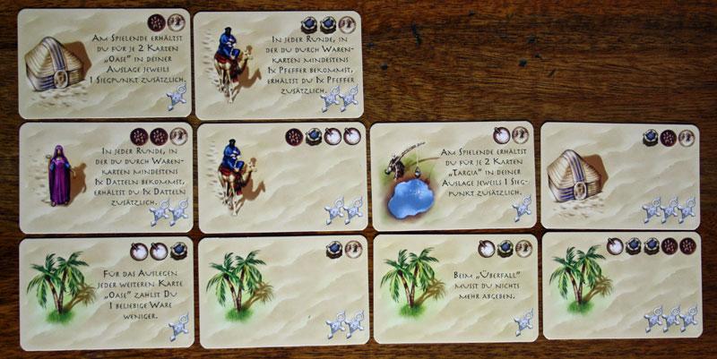 Die eigene Auslage umfasst maximal 3 Reihen á 4 Karten.