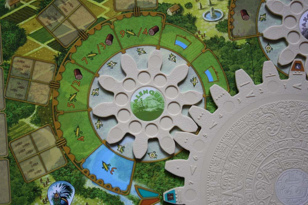 Tzolkin Spielplanauszug: Zahnrad von Palenque