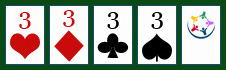 Poker: Vierling - 4 of a kind.
