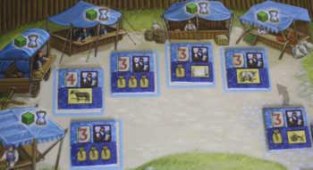 Spielplanauszug: Der Markt