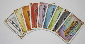 Die Wagenkarten und Joker in Zug um Zug